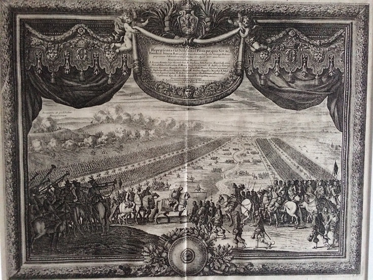 Militaria, Nordiska krigen, svensk militärparad 1657, Erik Dahlberg