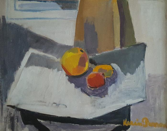 Oljemålning, stilleben, Karin Parrow (1904-1984)