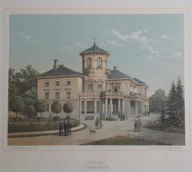 Öfverås, J. J. Dicksons Villa, Oscar A. Mankell