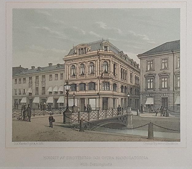 hörnet av Drottning- och Östra Hamngatorna, Oscar A. Mankell, 1884