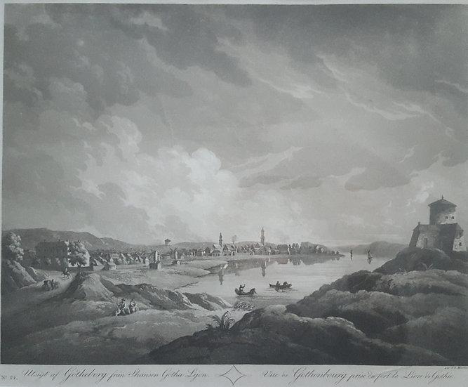 Vy över Göteborg från Skansen Leijonet, J F Martin, sent 1800-tal