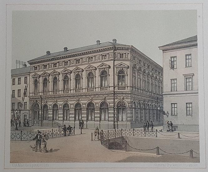 Litografi, Skandinaviska banken i Göteborg, Oscar A. Mankell, 1884