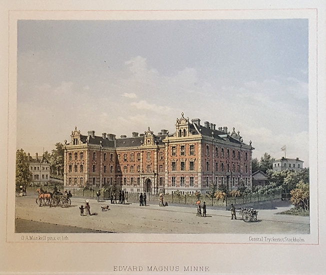 byggnad till Edvard  Magnus minne i Göteborg , Oscar A. Mankell, 1884