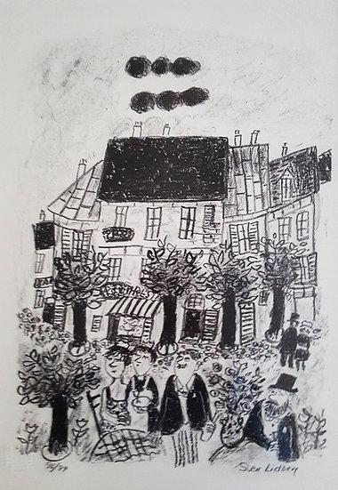 Sven Lidberg, Litografi, Paris