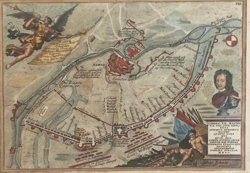 Slaget vid Narva 1700, Gabriel Bodenehr, Karl XII