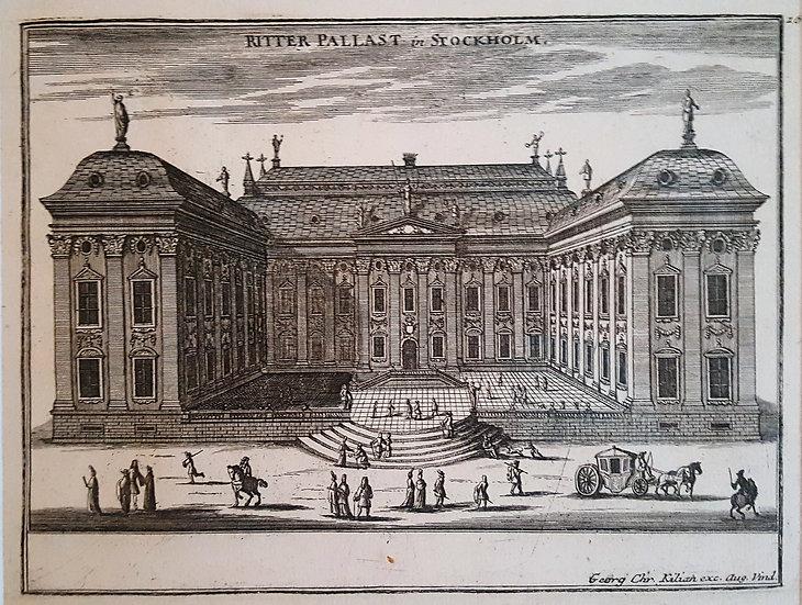 Träsnitt, Riddarhuset i Stockholm, Gabriel Bodenehr 1720