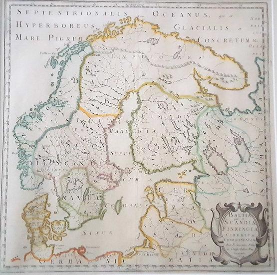 Karta över Sverige, Nicolas Sanson, 1659