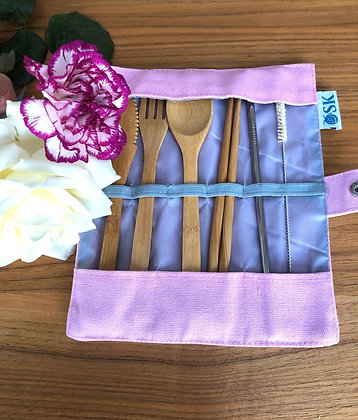 CUTLERY POUCH - PINK