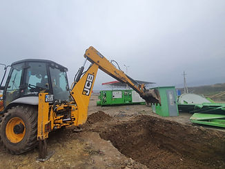JCB digging ground