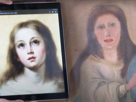 17th Century Virgin Mary Painting Botched After Being Cleaned By 'Furniture Restorer'