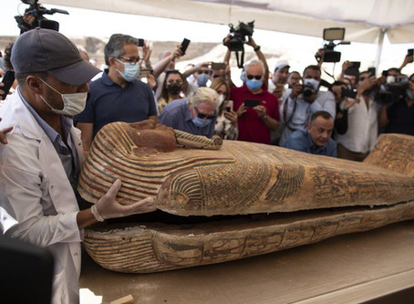 Trove of 'Perfectly Preserved' Painted Coffins and Mummies Discovered at Ancient Egyptian Necropolis