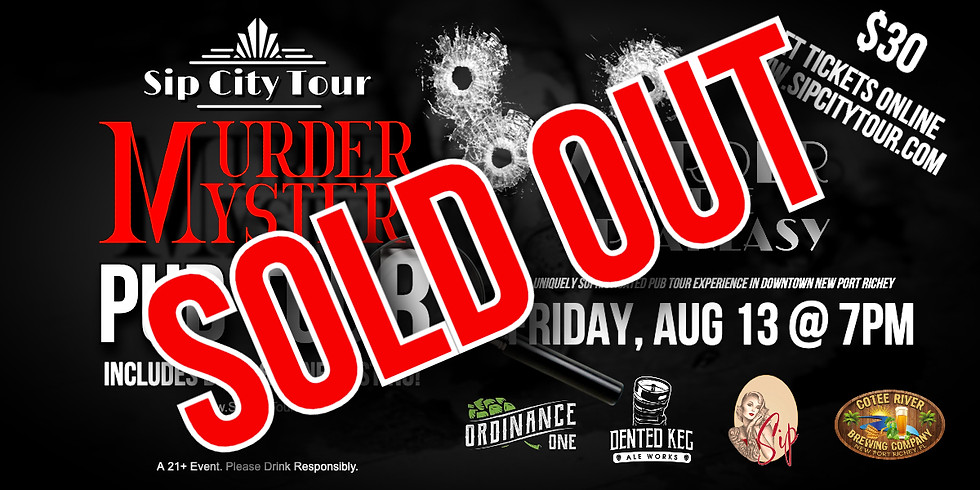 Sip City Murder Mystery & Pub Tour (SOLD OUT)