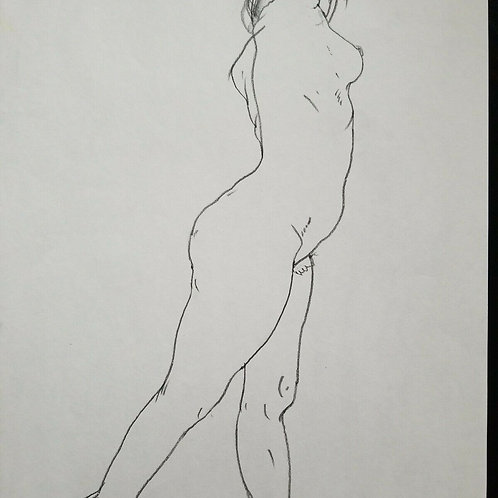 Nude Sketch by Paul Wagener