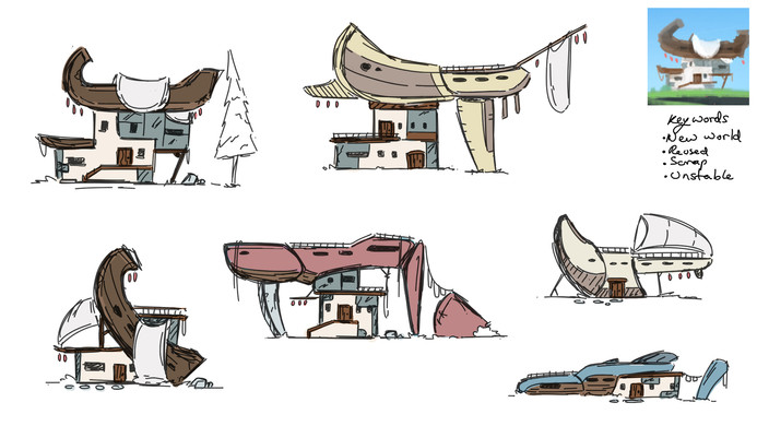 Initial building sketches