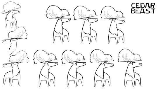 Cedar Beast logo sketches 2