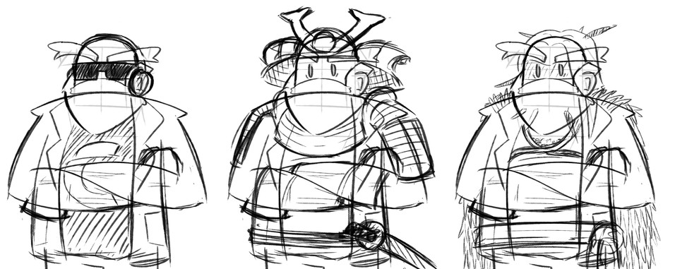 Character design sketches 4
