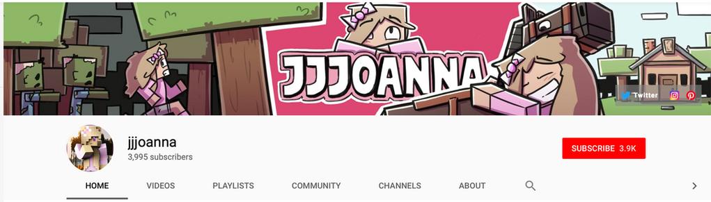 jjjoanna YouTube banner