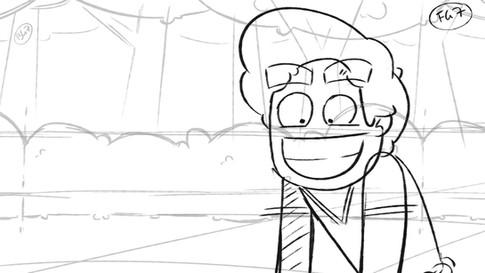 Pokemon animation storyboard frame 2