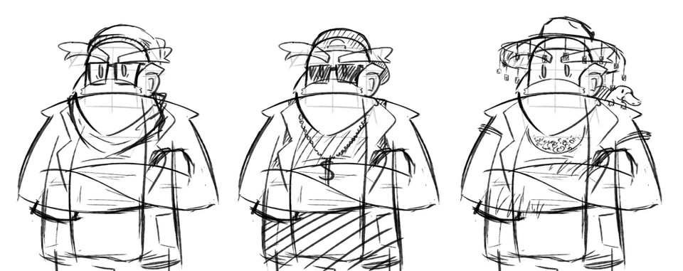 Character design sketches 3