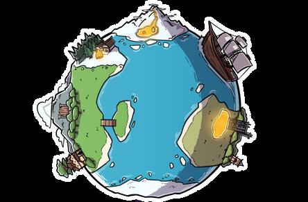 Island Clash logo background