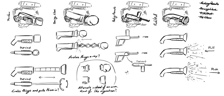 Weapon sketches