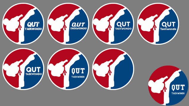 QUT Taekwondo logo text iteration