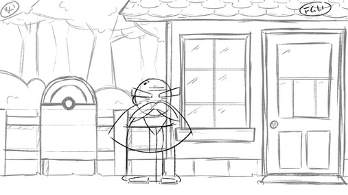 Pokemon animation storyboard frame 1