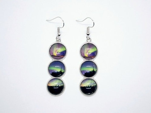 Three image stacked earrings