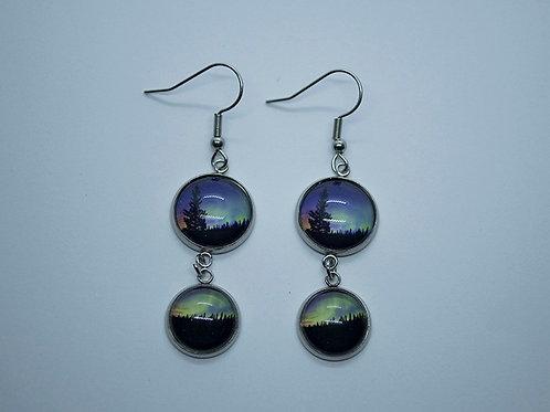 Two image northern light dangle earrings