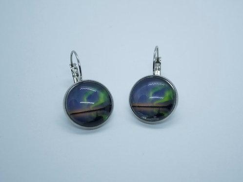 Small stainless steel pierced earrings