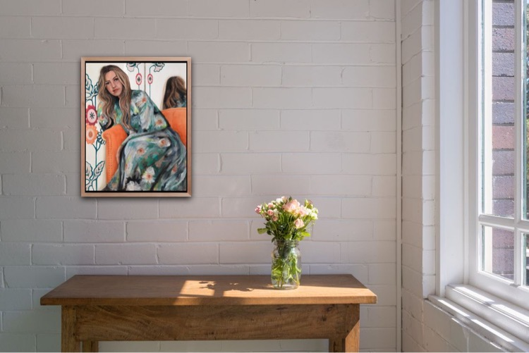 'The Velvet Couch' framed example