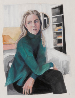 Girl in the green jumper