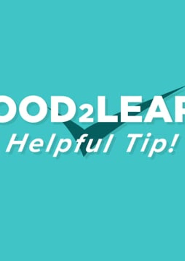 Good2Learn - 2D & 3D Shapes Helpful Tip