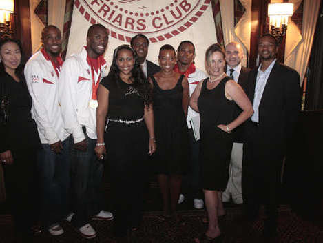 OLYMPIC MEDALISTS BECOME HONORARY MEMBERS OF THE LEGENDARY FRIARS CLUB