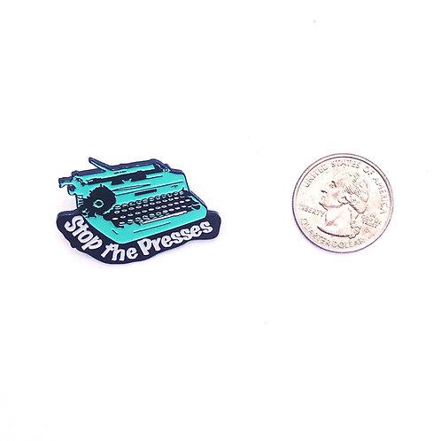 Typewriter Soft Enamel Pin