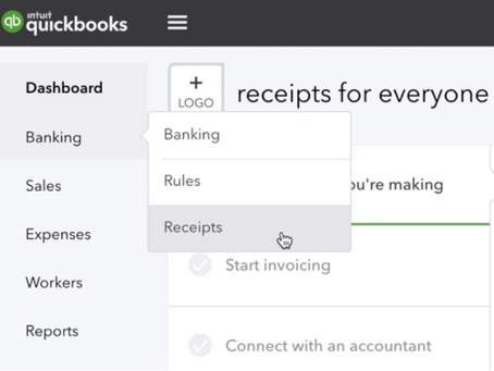 Snap your receipts into instant bills in QuickBooks online