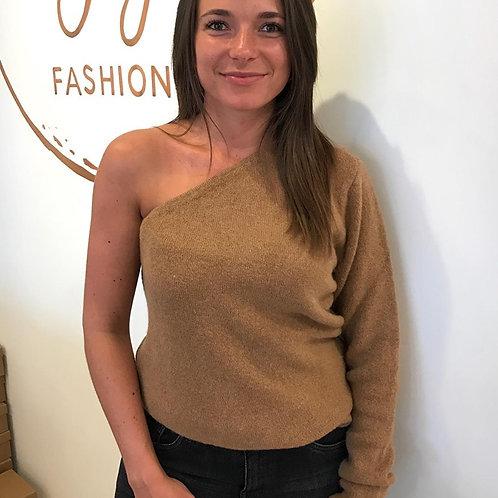 Off- shoulder sweater