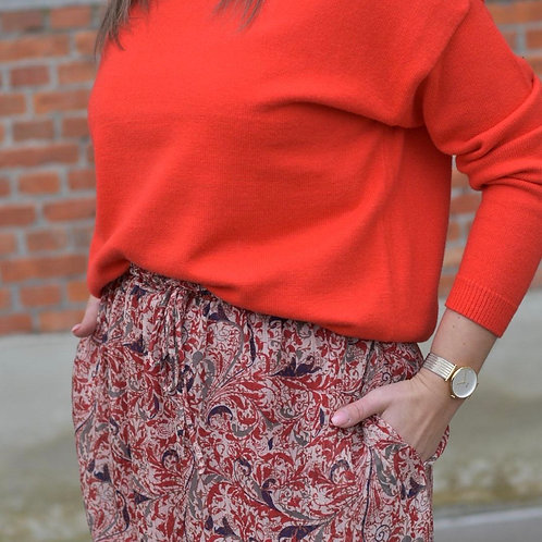 Rood/oranje kleurige sweater