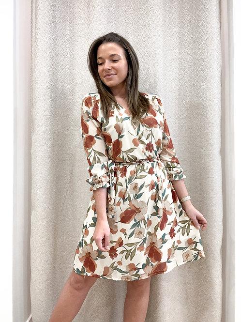 Beige flowerbomb dress