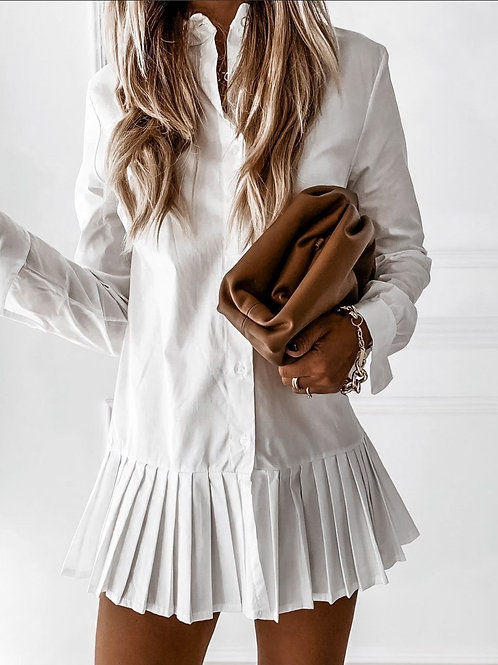 Pleated tunic