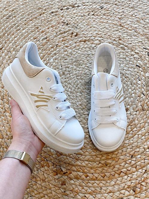 Beige striped sneaker