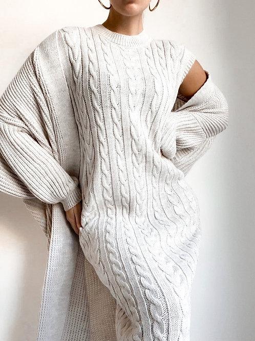 Grey knit set