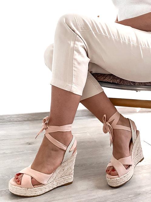 Pink Espadrille heels