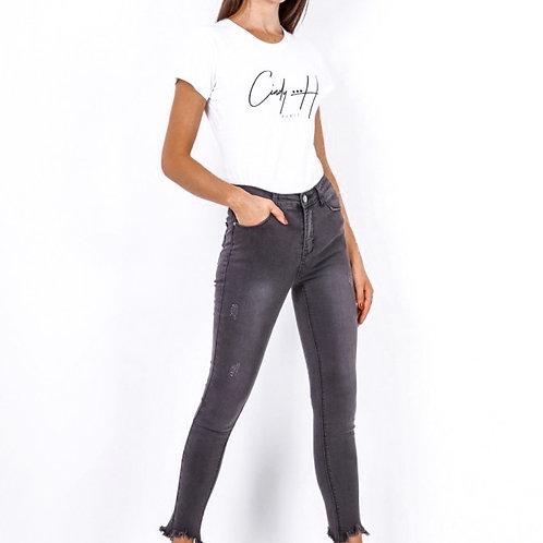 Donker grijze skinny jeans