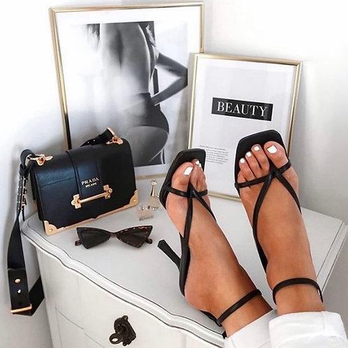 Black elegant heels