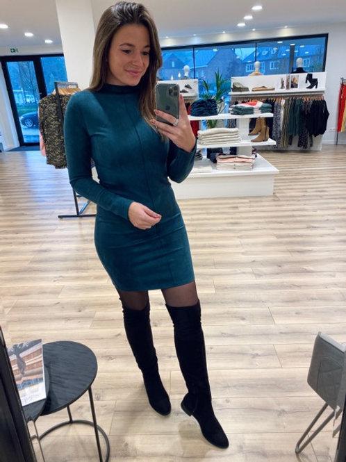 Suede petrol dress