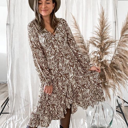 Midi jurk zebra print