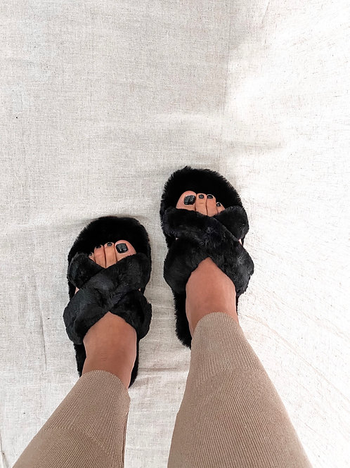 Comfy slippers black