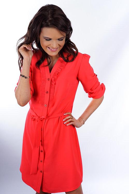Red chemisier dress