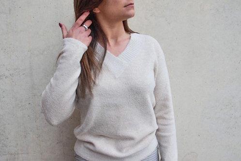 Beige basic sweater